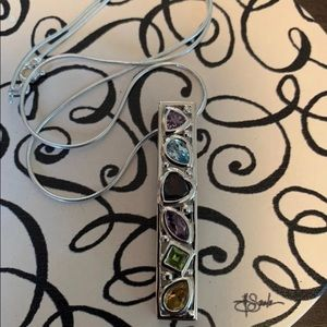 Jewelry - Sterling Silver Multi Gemstone Necklace